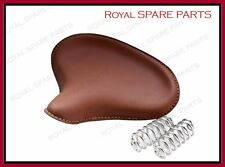 Royal Enfield Front American Type Seat Brown Colour With Chrome Springs