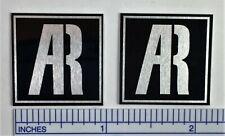 "AR Acoustic Research Speaker Badge Logo Emblem Black Pair 1"" Square Free Ship"