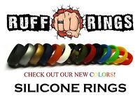 Mens Silicone Wedding Rings RUFF RINGS