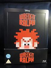 Wreck It Ralph Blu-Ray Steelbook [UK] Mint Region Free Disney w/ BONUS 3D DISC