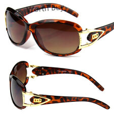 New DG Womens Sunglasses Fashion Designer Retro Vintage Tortoise Leopard Brown