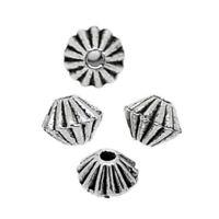 200 Neu älter Silber Spacer Perlen Zwischenteil 4x4mm hello-jewelry