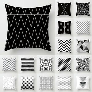 """Geometric Square Cushion Covers Throw Pillow Case Sofa Bedroom Decor Outdoor 18"""""""