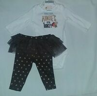 NEW Carter's 3 Month Baby Girl Thanksgiving AUNTIE'S LITTLE TURKEY Bodysuit+Pant