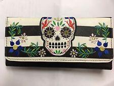 Loungefly Sugar Skull Three Fold Wallet, Black