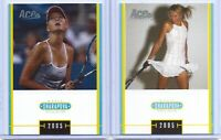 "(2) MARIA SHARAPOVA 2005 ACE TENNIS ""SPECIAL EDITION"" 2 CARD ROOKIE LOT! RUSSIA!"