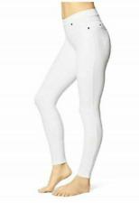 Womens June & Daisy White Capri Length Denim Leggings Size XXL 2xl