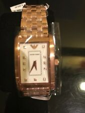New Authentic Emporio Armani Women's AR1906 Classic rose Gold Watch ,NWT and Box