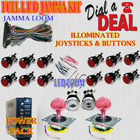 jamma arcade machine ILLOMINATED  full kit for tables and uprights