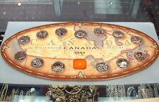 1999 ROYAL CANADIAN MINT QUARTER SET + MEDAL+ MAP BOARD