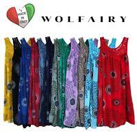 Wolfairy Womens Plus Size Midi Dress Summer Beach Lace Aztec Sleeveless Holiday