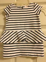 Janie and Jack Parisian Park Striped Dress Girls Size 6-12 Months