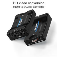 HDMI To SCART Composite Video Scaler Converter Audio Adapter for DVD SKY 1080P
