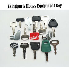 16pcs Heavy Equipment Key Construction Igition Key Excavator Key