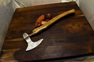 Louis Martin Handmade Damascus Walnut Wood Tomahawk Hunting Axe Knife Classy