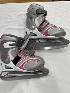 Bladerunner Dazzle 6.0 Ice Skates Pink Silver & White Girl's Size 4-7