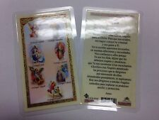 HOLY PRAYER CARDS FOR THE SEVEN ARCHANGELS SET OF 2 IN SPANISH FREE SHIP!