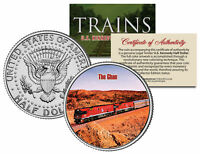 THE GHAN TRAIN * Famous Trains Series * JFK Half Dollar Colorized U.S. Coin