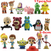 Toy Story 4 Set of 17 Collectible Mini Figures New Forky Ducky Bunny Gift Toys