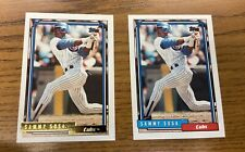 1992 Topps Traded + Gold Sammy Sosa #109T First Cubs Card