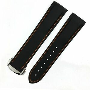 19 20 21 22mm Rubber Silicone Watchband Strap For Omega Seamaster Planet Ocean