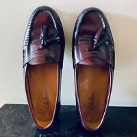 Cole Haan Burgundy Tassel Leather Dress Loafers - Men's Size 9 D USA Shoes