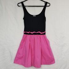 Victorias Secret PINK Medium Sundress Colorblock Black Gathered Fit Flare Slip