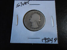 1934 P: Washington Silver Quarter Circulated # 365, You Grade it!