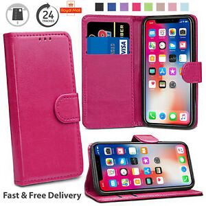 Slim Case iPhone XS X 8 7 6S 6 Plus Leather Magnetic Folding Wallet Phone Cover