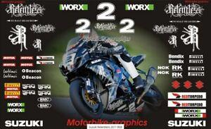 Suzuki Relentless 2011 BSB decal set