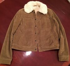 FREE PEOPLE Sherpa Lined Uncut Camel Cord Jacket, size XSMALL