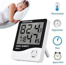 2pcs Digital Thermometer Hygrometer Temperature Humidity Room Meter Gauge Clock