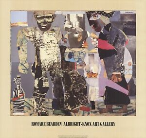 ROMARE BEARDEN Return of the Prodigal Son 26.5 x 28 Offset Lithograph 1991 Afric