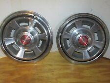 "Lot of 2 c1968 Vintage Pontiac/PMD wheel Covers 14"" Firebird Lemans Other LQQK!"