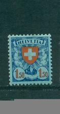 Schweizer Bundespost-Briefmarken (bis 1944) als Einzelmarke mit Falz