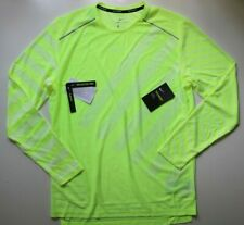 NIKE TECHKNIT COOL DRI FIT MEN RUNNING LONG SLEEVE TOP - VOLT BV5392-702 - M L