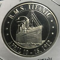 1998 SOMALIA SILVER PROOF $5 TITANIC CROWN 1.02 ASW