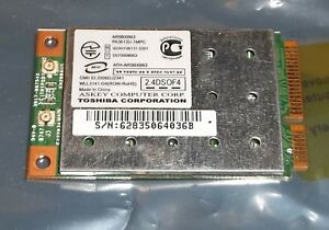 Toshiba Satellite Mini PCIe Express 802.11b/g Wireless LAN Card PA3613U-1MPC