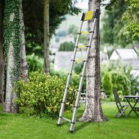 12.5ft Portable Aluminum Telescoping Extension Outdoor Ladder Retractable