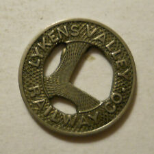 Lykens Valley Railway Company (Pennsylvania) transit token - PA585Ab