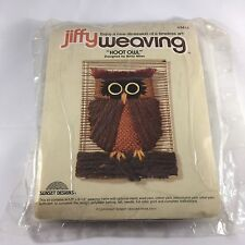 Jiffy Weaving Hoot Owl Sunset Designs Kit 1977 #3411