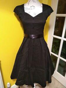 Lindy Bop Avery Black Swing Dress Size 8
