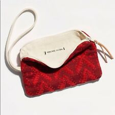 Womens Free People Red Mercado Global Selvedge Pouch NWT