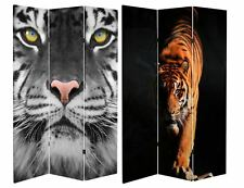 Oriental Furniture Tiger 3-Panel Folding Room Divider Privacy Screen Home Office