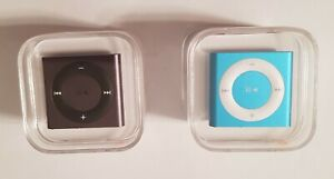 Bundle of Two Apple iPod Shuffle 4th Gen A1373 2 GB Blue & Gray Factory Sealed