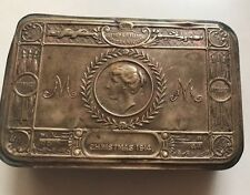 1914's ANTIQUE BRASS PRINCESS MARY CHRISTMAS -TOBACCO & CIGARETTE GIFT BOX CASE