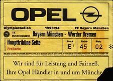 Ticket BL 93/94 FC Bayern München - SV Werder Bremen