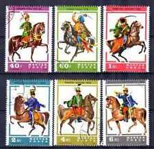 Chevaux Hongrie (13) série complète 6 timbres oblitérés