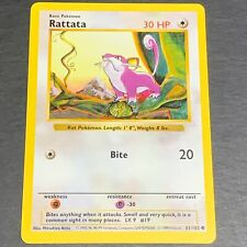 Pokemon SHADOWLESS Base Set COMMON Rattata 61/102 - Played (PL) Condition