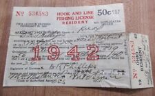 1942 Ohio Resident Hook and Line Fishing License 534583 >